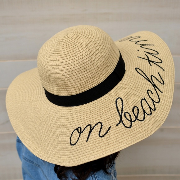 9bfc6b79c24387 J. Crew Accessories | J Crew On Beach Time Embroidered Straw Sun Hat ...